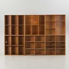 shelves in 6 sections by mogens koch. made by rasmussens snedkerier in denmark.