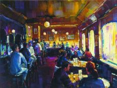 awesome Michael Flohr Happy Hour   Enhanced Giclee on Canvas S/N w/COA   Check more at http://harmonisproduction.com/michael-flohr-happy-hour-enhanced-giclee-on-canvas-s-n-w-coa/
