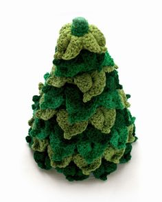 Materials Needed: -Worsted Weight Yarn. I used cotton yarn, but acrylic yarn will work well too. -Crochet Hook Size: E& Crochet Christmas Decorations, Crochet Christmas Trees, Christmas Tree Pattern, Holiday Crochet, Christmas Ornament Crafts, Noel Christmas, Christmas Stuff, Crochet Tree, Love Crochet