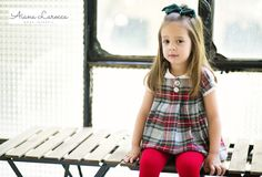 Vestido tartán para niña ya disponible en http://aianalarocca.com/ #modainfantil