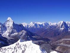 Nepal celebrates World Environment Day - View of Ama Dablam from Island Peak