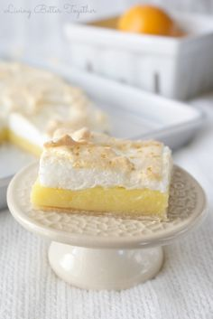 Living Better Together: Meyer Lemon Meringue Slab Pie
