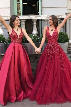 gorgeous 2020 red formal gown. A or B? #fomaldresses #winterformals #promdresses #prom2020