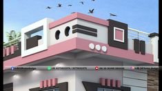 3d Home Design, Wall Design, House Design, Front Elevation Designs, House Front, Ground Floor, Flooring, Mansions, House Styles