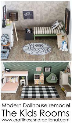modern dollhouse: kids rooms video para hacer silla en youtube