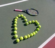 Tennis Ball Heart