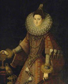 c.1595/1596 Juan Pantoja de la Cruz. Infanta Isabella Clara Eugenia (1566-1633)