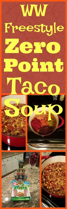 I made a small adjustment to this recipe, and now it's zero points on the new Weight Watcher's Freestyle program! Weight Watchers Points, Weight Watchers Free, Weigh Watchers, Ww Taco Soup Recipe, Recipe For Weight Watchers Taco Soup, Weight Watchers Chili, Weight Watcher Dinners, Ww Recipes, Light Recipes