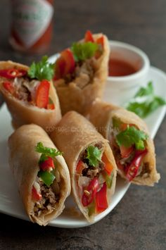 Easy Taco Spring Roll Recipe ~ easy to make, fail proof and a real crowd pleaser!