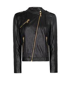 MANGO - Biker leather jacket