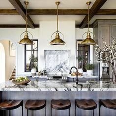 Choosing Your New Kitchen Countertops Home Decor Kitchen, New Kitchen, Home Kitchens, Kitchen Dining, Ivory Kitchen, Kitchen Vent, Cottage Kitchens, Country Kitchen, Kitchen Island