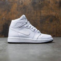 Jordan Big Kids Air Jordan 1 Retro High OG (GS) (white / black-white)