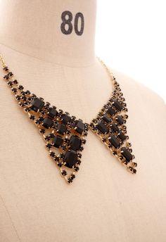 black jeweled collar $19.90