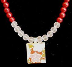 "Flower Garden 21"" Scrabble Tile Necklace | hollyshobbiesncrafts - Jewelry on ArtFire"