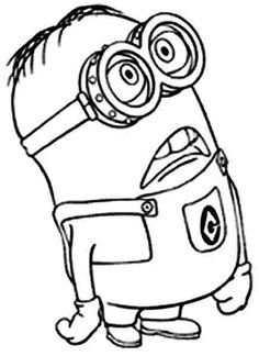 Kids Minions Despicable Me Coloring Pages