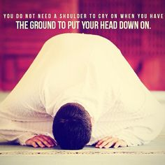 Crying in your sujud, feeling like nothing else exists between you and Allah #Allah #Sujood