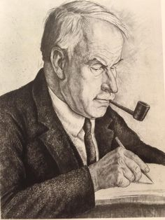 Carl Jung 1935 etching by Rabinovitch.