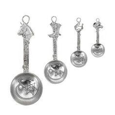 Evergreen Western Metal Measuring Spoon Set