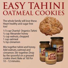 Tahini Oatmeal Cookies - 5 ingredients