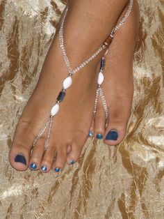 Barefoot Sandles Foot Jewelry Anklet by SubtleExpressions on Etsy, $17.00