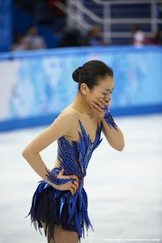 Figure Skating: 2014 Winter Olympics: Japan Mao Asada reacts after her Women's Free Skating Program routine at Iceberg Skating Palace. Sochi, Russia 2/20/2014 CREDIT: Al Tielemans (Photo by Al Tielemans /Sports Illustrated/Getty Images) (1024×1538)