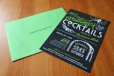 Halloween Invite! Costume & Cocktails!
