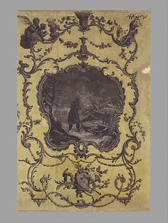 Winter, Wallpaper - 1768, made in England. Tempera on watercolor paper.