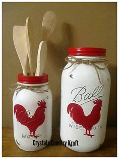 Rooster kitchen canister setsfarm animal decor soap - Chalk Art İdeas in 2019 Mason Jar Projects, Mason Jar Crafts, Mason Jar Diy, Diy Projects, Diy Soap Dispenser Mason Jar, Crafts With Mason Jars, Pickle Jar Crafts, Uses For Mason Jars, Vintage Mason Jars