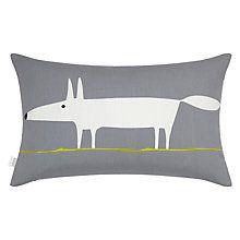Buy Scion Mr Fox Cushion, Steel / Lime Online at johnlewis.com