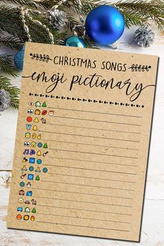 5 In One, Christmas Games, Christmas Songs Emoji Pictionary Quiz, Christmas Party Game, Christmas Trivia, Christmas Printables