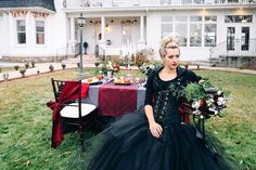 edgy steampunk and motorcycle wedding inspiration