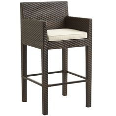 Our modular Ciudad Bar Stool flaunts a boxy, architectural silhouette that's nothing if not sophisticated. Sturdy, too, with its tight-weave, all-weather synthetic rattan woven over a heavy-duty, rust-resistant metal frame. Comfy? Oh my, yes.
