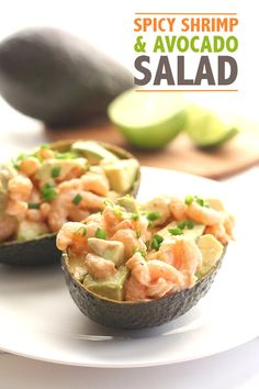 Spicy Shrimp Avocado Salad - perfect for summer entertaining!
