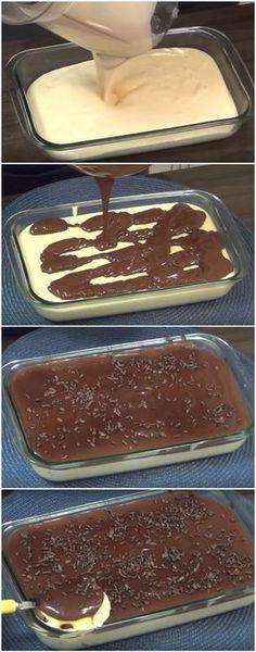 Sobremesa AMOR GELADO   Impossível não se apaixonar por essa delícia! (veja a receita passo a passo) #sobremesa #amorgelado #sobremesanatravessa