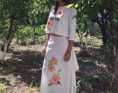 Browse unique items from AllOfMyHobbies on Etsy, a global marketplace of handmade, vintage and creative goods. Linen Dresses, Jewelery, Two Piece Skirt Set, Creative, Handmade, Etsy, Vintage, Fashion, Jewlery