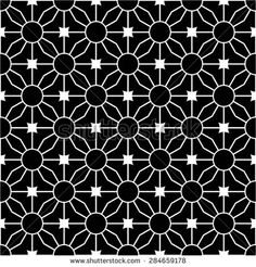 The geometric pattern of circles and lines rhombus, seamless vector background.