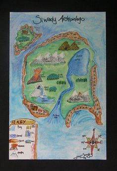 Autobiography Maps, interesting self portrait etc... & Lots More...I LOVE this site, very creative art lessons