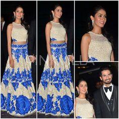 Reception Style : Mira Rajput in Manish Malhotra and Nirav Modi for her wedding reception