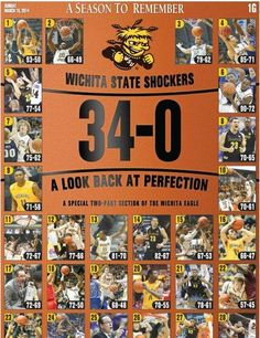 #SHOX HEADED TO NCAA tournament 2014 in St. Louis seated #1 in Midwest division. Wsu Shockers, The Shocker, Wichita State, Ncaa Tournament, Looking Back, Kansas, Eagle, Seasons, Baseball Cards