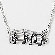 Noteworthy Music Notes Necklace