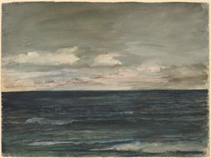"""""""Lesson Study on Jersey Coast,"""" John La Farge, 1881, watercolor and gouache on wove paper, 8 1/16 × 10 7/8"""", National Gallery of Art, Washington D.C."""
