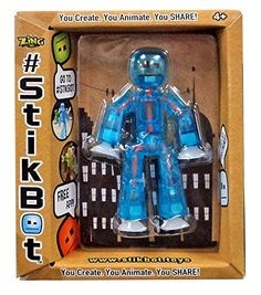 "#13 Stikbot Stikbot 3"" Figure [Blue & Orange] Stikbot"
