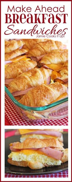 Make Ahead Breakfast Sandwiches from Jamie Cooks It Up!