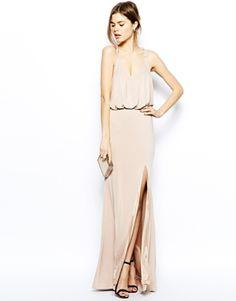 Imagen 4 de Vestido largo con escote pronunciado y abertura en el muslo de Forever Unique