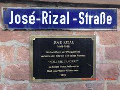 Jose Rizal Street in Wilhelmsfeld, near Heidelberg in Germany Noli Me Tangere, Jose Rizal, Newspaper Layout, Pinoy, Held, Languages, Philippines, Islands, Layouts