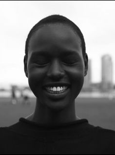 Ajak Deng shows that natural is beautiful.