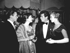 Frank Sinatra, Ava Gardner, Tony Curtis, and Janet Leigh