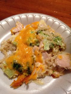 Broccoli, chicken and cheese casserole! So good!!