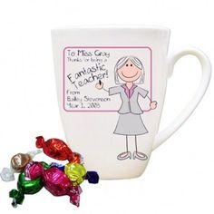 Personalised Pink Whiteboard Teacher Mug | £9 | Special Moment
