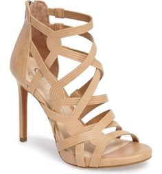 Main Image - Jessica Simpson Rainah Sandal (Women) Cord-embossed cage straps corset your foot in a sky-high sandal lifted by a setback stiletto heel. Jessica Simpson| High Heels| Afflink   (scheduled via http://www.tailwindapp.com?utm_source=pinterest&utm_medium=twpin&utm_content=post198646973&utm_campaign=scheduler_attribution)
